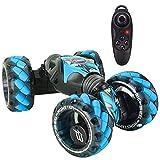 Coche RC Coche teledirigido, Detección de Gestos RC Stunt Car Vehículos Que tuercen Doble Cara 360 & deg;Giros (Azul) (Juguete Inteligente)