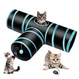 Donghoodshop Tunnel pour Chat 3 Voies, Tube de Tunnel Pliant Chat Tunnel Jouets...