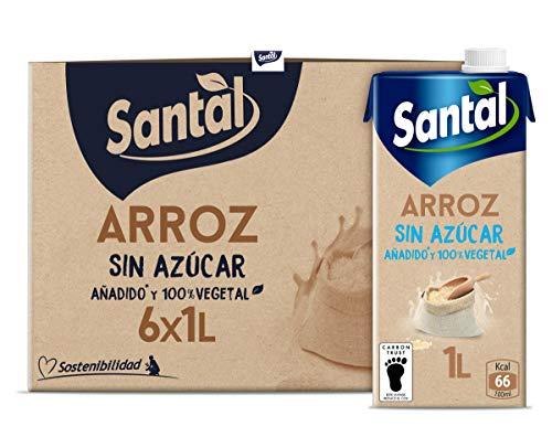 Santal Bebida Vegetal Arroz Sin Azúcar Añadido 6x1L