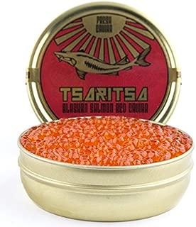 LIMITED TIME OFFER! Caspian Tradition RUSSIAN Style TSARITSA FRESH Salmon Malossol CAVIAR 8oz tin