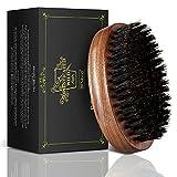 Cepillo para barba de cerdas de jabalí BFWood - Estilo militar de madera de nogal negro