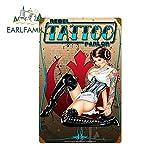 DSNGZ 13 cm x 8,5 cm para Pinup Tattoo Parlor Girl Pegatinas de Coche adecuadas para Motocicleta ATV...