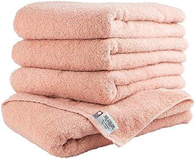 日繊商工 今治タオル 抗菌防臭加工 MS color バスタオル 4枚セット ピンク MS_b4set_p