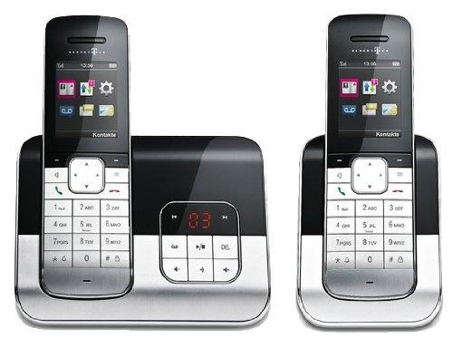 Telekom T-COM Sinus A806 DUO, SET analoges DECT Telefon mit 2 Mobilteilen