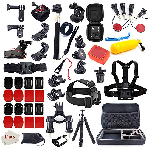 MOUNTDOG 61 in 1 Action Camera Accessories Kit for GoPro Hero 8 7 6 5 4 3+ 3 AKASO Apeman SJ4000 Campark DJI OSMO