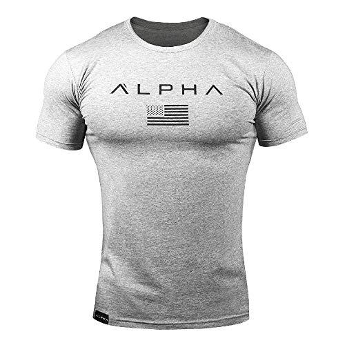 Muscle Brother Fitness Camiseta de Manga Corta Deportiva de Camuflaje para Hombre, Traje de Entrenamiento Ajustado con Cuello Redondo para Hombre