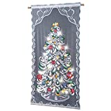 Trenton Gifts Christmas Tree Curtain Panel | Lighted | Multi-Color | 40' W x 84' L