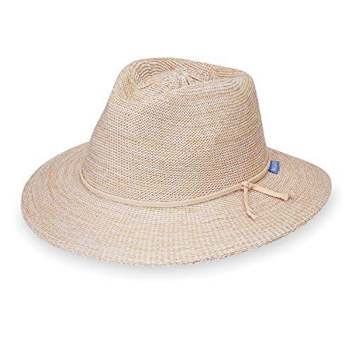 Women's Victoria Fedora Sun Hat – UPF 50+, Adjustable, Packable, Mixed Beige