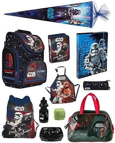 Familando Star Wars Classic Schulranzen-Set 11tlg. Sporttasche Schultüte 85cm Federmappe Regenschutz