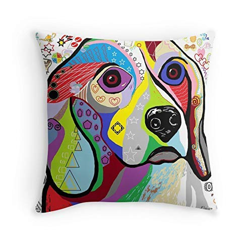 HOJJP Almohada Case Beagle for Sofa Couch Living Room Bed Decorative (Square 16x16)
