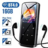 MP3 Player with Bluetooth 4.0, high Resolution and Touch Screen, Built-in Speaker, 16GB