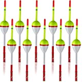 Sumind 10 Pieces Fishing Floats Balsa Wood Floats Oval Stick Floats Slip Bobbers for Fishing Tackle Accessories (0.79 Inch in Diameter, 1.18 Inch in Length)