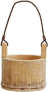 QinWenYan Pots de Fleurs Jardin de Fleurs de Bambou Pots muraux Suspendus Plante Herbe pour Balcon Plante Plante Pendaison...
