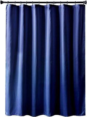 シャワーカーテン お風呂用カーテン 防水 防カビ 120 x 180cm ダークブルー