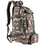 OLEADER Militär taktischer Rucksack 40L wasserdichter Rucksack Große Molle Assault-Rucksäcke mit Taillentasche für Outdoor-Trekking, Reisen, Wandern, Camping (Jungle camo)