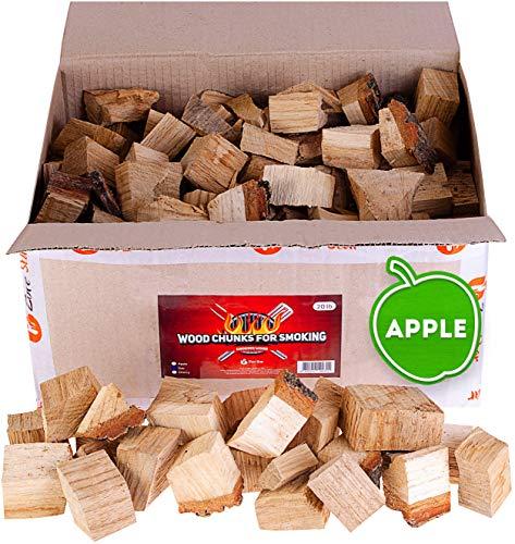 Zorestar Apple Wood Chunks for Smokers - 15 lb