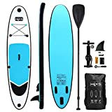 HIKS Blue 10ft / 3m Stand SUP Board Set Inc Paddle, Pump, Backpack & Leash Suitable All Abilities Ideal Beginners Inflatable Paddleboard Kit