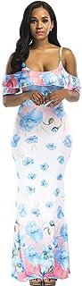 Abbigliamento sportivo WDJYNL Abito Abiti Abito Donna Summer Donna Casual Poliestere Solido Abito Lungo Abito Boho
