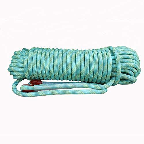 Corde de sécurité multifonctionnelle Extérieur Escalade corde avec mousquetons Arbre matériel d'escalade Activités de plein air for 10MM 20MM (vert) Heavy Duty Mountain Equipment pour Randonnée Alpini