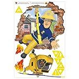 Wandtattoo - Feuerwehrmann Sam - bringt Dich in Sicherheit, 45cm x 30cm