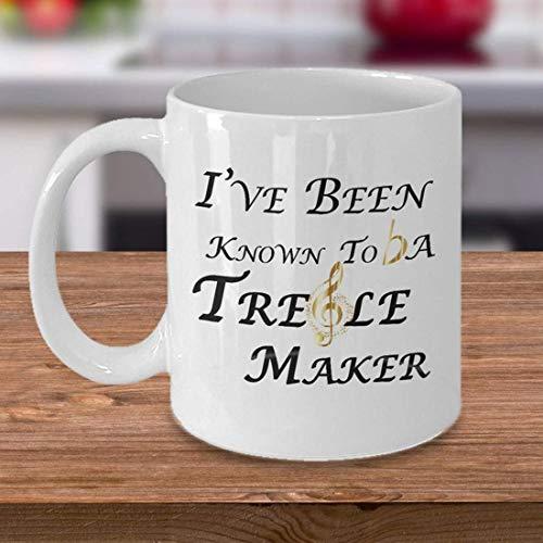 Ik ben bekend als een Treble Maker, Muzikant Mok, Treble, Muziek Leraar, Muziek, Band Director, Band Director Gift, Geen Treble, Piano, Mok