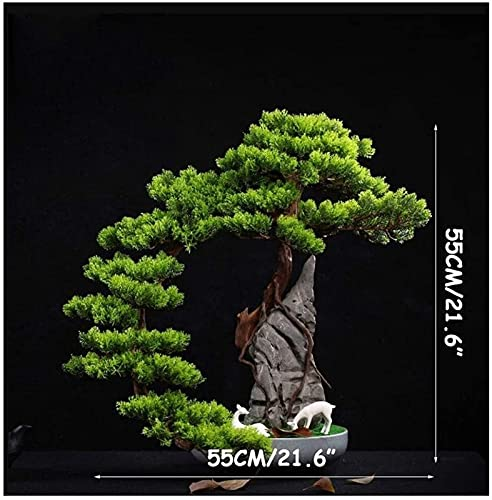 vfrt Home Artificial Bonsai Tree,Artificial Trees Indoors,Potted Fake Tree Decoration For Garden Office Artificial Plants Size:21.6 Inch (Color : B)