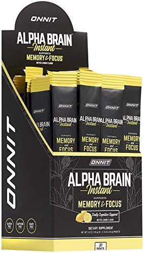 ONNIT Alpha Brain Instant Meyer Lemon Flavor Nootropic Brain Booster Memory Supplement Brain product image