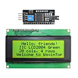 WayinTop 20x4 2004 LCD Display Module with IIC/I2C/TWI Serial Interface Adapter for Arduino for Mega 2560 (Yellow Green/2004)