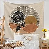 Tapiz de hoja de planta decoración de pared lindo y fresco color Morandi estética decoración de habitación tapiz decorativo kawaii A4 73x95cm