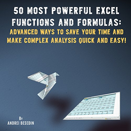 50 Most Powerful Excel Functions and Formulas audiobook cover art