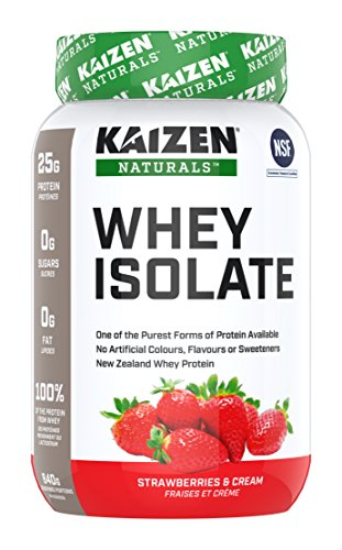 Kaizen Naturals Whey Isolate, Strawberry, 840 g