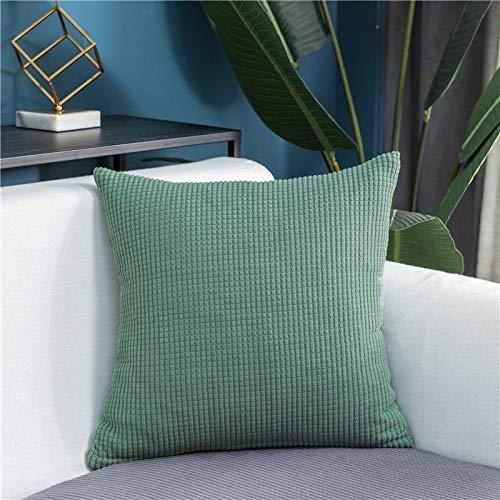 B/H Lavable/Antiácaros Funda de sofá,Cojín de sofá de Lana de maíz, Funda de sofá elástica de Color sólido-X_45 * 45cm * 1,Sillón Elastano Fundas de Sofá