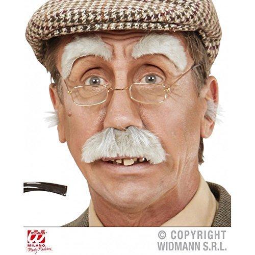 Lively Moments bartset Age Mann / Sourcils & Moustache / Moustache en Gris