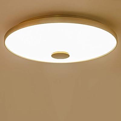 Chambre Plafonnier Tricolore LED Lampe dePlafond L'éclairage intérieur Éclairage de plafond Style vintage tendance or Décoration Salon Étude Couloir Balcon Ø42*H3CM 24W