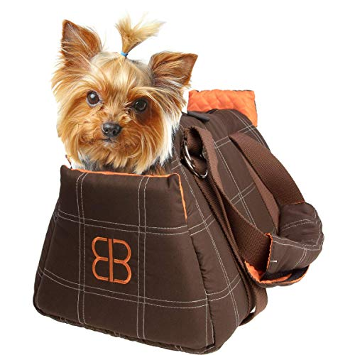 Petego-Bitty Bag Soft padded small pet shoulder carrier bag tote. (16'L x 9.75'W X 10.75'H)