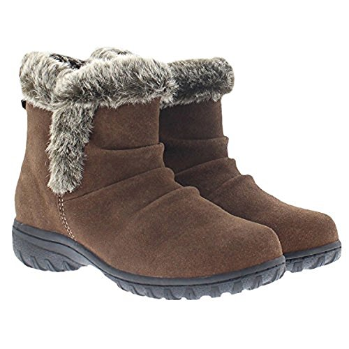 Khombu Ladies All Weather Boot (6, Brown)