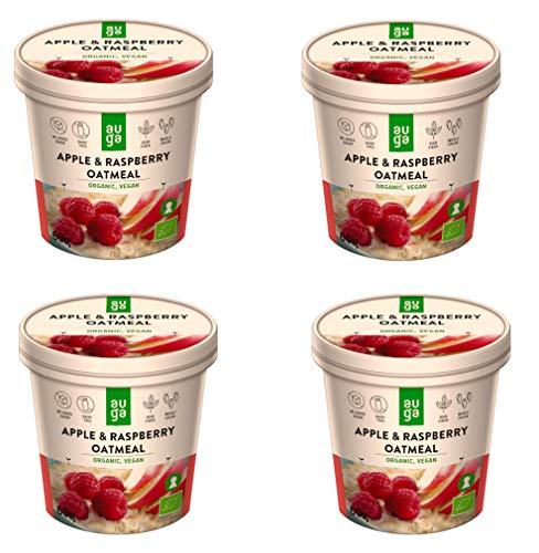 AUGA Biologische Havermout met Appels en Kaneel 60 g- Pack van 4