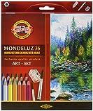 MONDELUZ 36 ART-SET Aquarellstifte/Aquarellmalstifte für die Aqurellmalerei (3712)
