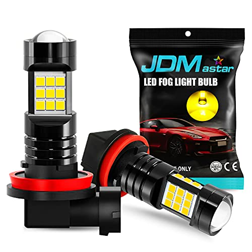 JDM ASTAR Extremely Bright PX Chips H11 H16 LED Fog Light Bulbs, Golden Yellow