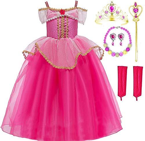 Sleeping Beauty Princess Costume Dress Up Set, 4-5 Pink