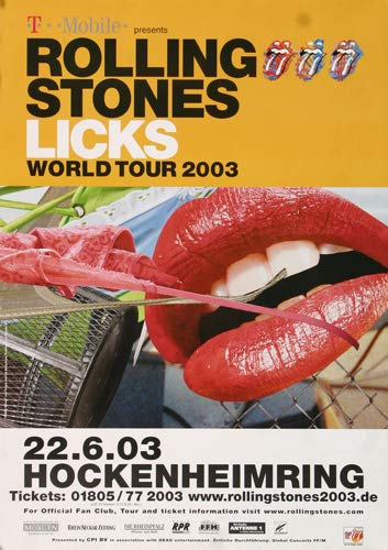 The Rolling Stones - Licks, Hockenheimring 2003 » Konzertplakat/Premium Poster | Live Konzert Veranstaltung | DIN A1 «