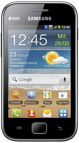 Samsung Galaxy Ace Duos S6802 Smartphone (8,9 cm (3,5 Zoll) Touchscreen, 5 Megapixel Kamera, Android 2.3) metallic-black