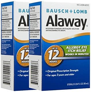 Bausch & Lomb Alaway Itch Relief Eye Drops-0.34 oz, 2 ct (Quantity of 2)