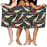 winterwang Toallas de baño Unisex para Tiburones Caballitos de mar Toallas de baño para Adolescentes Adultos Toalla de Viaje Toalla 31x51 Pulgadas