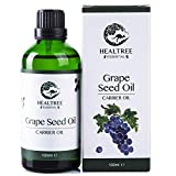 HEALTREE Grape Seed Carrier Oil 100ml (100% Pure & Natural Cold Pressed) |