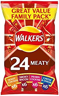 Walkers Meaty Variety Crisps 25g x - 22 per pack (1.21lbs)