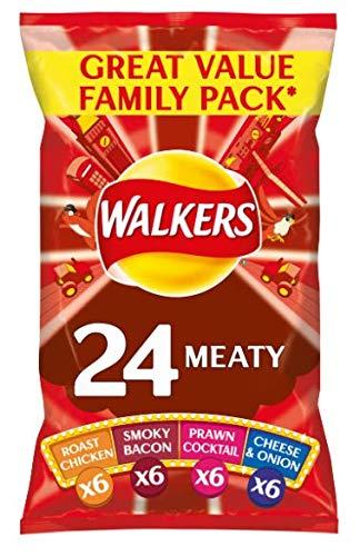 Walkers Meaty Variety Crisps 25g x - 22 per pack (1.21lbs)