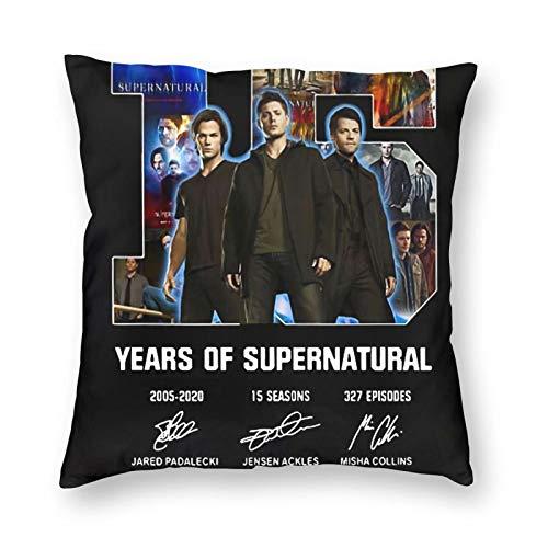 Supernatural Signature - Funda de almohada de microfibra, fundas de cojín para sofá, jardín, cama, sofá, 45 x 45 cm