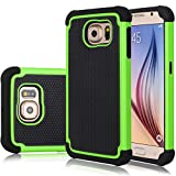 Galaxy S6 Edge Case, Jeylly(TM) [Shock Proof] Scratch Absorbing Hybrid Rubber Plastic Impact Defender Rugged Slim Hard Case Cover Shell for Samsung Galaxy S6 Edge S VI Edge G925