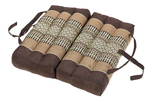 Handelsturm Cojín Plegable de algodón (40x40 cm, cojín con Relleno de kapok), marrón